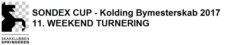 SONDEX CUP - Kolding Bymestterskab 2017 11. week